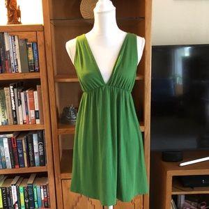 Espresso v-neckline dress